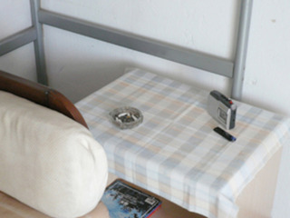 Hand Painted Cloth used as Tablecloth , Lee Kit