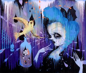 One Yellow Bird, Camille Rose Garcia