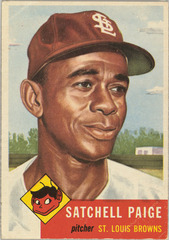 "Card Number 220, Leroy Robert ""Satchel"" Paige, Pitcher, St. Louis Browns, from the series Topps Dugout Quiz (R414-7), issued by Topps Chewing Gum Company,"