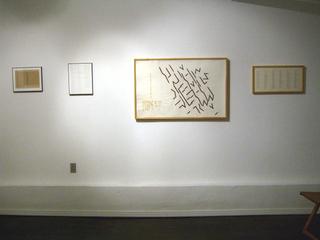 Installation view, Robert Barry, Guy de Cointet, Hanne Darboven