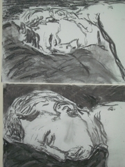 Howard_sleeping_-_charcoal