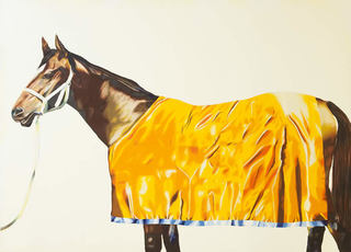 Horse series painting no. 9: with yellow rug , Jenny Watson