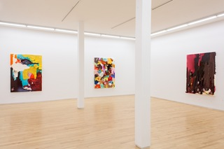 Spill Paintings, Installation view, Tony Tasset