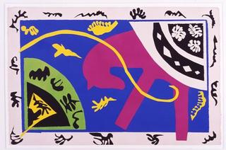 "Le lanceur de couteaux (The Knife Thrower), from the portfolio ""Jazz"", Henri Matisse"