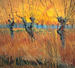 Pollard Willows at Sunset, Vincent Van Gogh