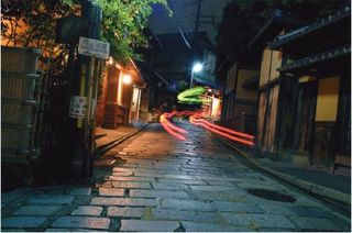 Taxi Lights on Sannenzaka, Kyoto, George Hirose
