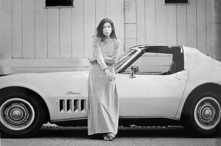 Joan Didion In Front Of Her Stingray, Hollywood, CA, Julian Wasser
