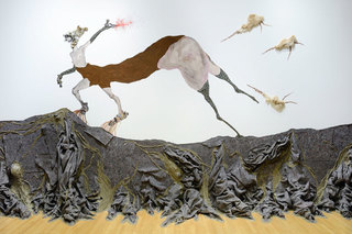 Once upon a time she said, I'm not afraid and her enemies began to fear her The End , Wangechi Mutu