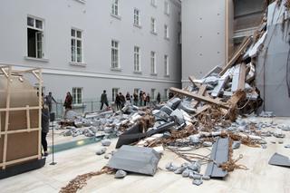 ABSCHLAG, installation view, MANIFESTA 10, General Staff Building, State Hermitage Museum, Thomas Hirschhorn