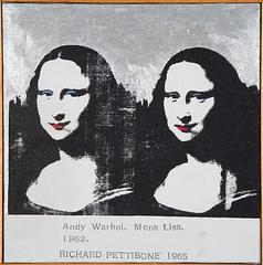 Andy Warhol's Mona Lisa, 1963, Richard Pettibone
