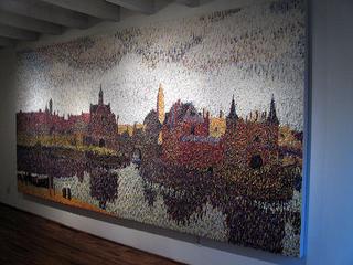 View of Delft (after Vermeer), Peter Fox