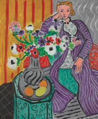 Purple Robe and Anemones, Henri Matisse