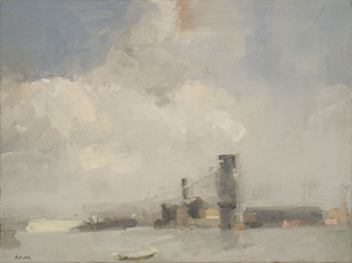 East River Buildings and Cloud Cover, Laura Adler