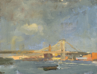 Light Breaking Through after the Storm East River, Laura Adler