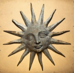 Sun trade sign (detail)  , Unknown