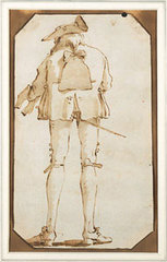 Tall Gentleman Seen from Back, Giovanni Battista Tiepolo