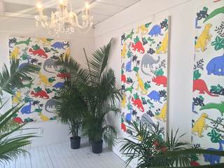 Dinos, Installation view of Bedsheets, Zachary Armstrong