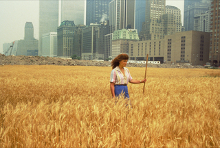 Wheatfield - A Confrontation: Battery Park Landfill, Downtown Manhattan - With Statue of Liberty Across the Hudson, Agnes Denes