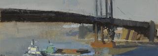 Under the Bridge, Two Tugs, Laura Adler