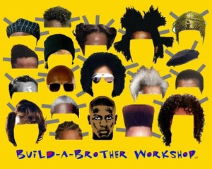 Build-A-Brother Workshop (The Paper Doll Barbershop Poster), Heather Hart