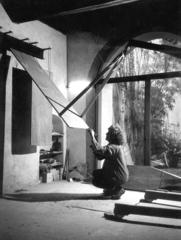 Amalia tunes \'Scale Maggiori\' in her studio, Amalia Del Ponte