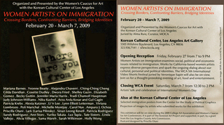 Women Artists on Immigration - Invite, Patricia Krebs, others...