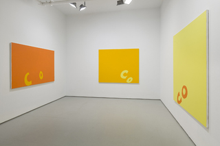 installation view, Carl Ostendarp
