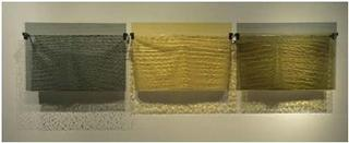 Nocturn Triptych in Gold and Silver, Therese Lahaie