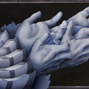 20140901225213-evan_hockett_-_hawk_hands_-_oil__calligraphy_paper__ink__sgraffito_-_5_inches_x_11_inches_-___all_rights_reserved