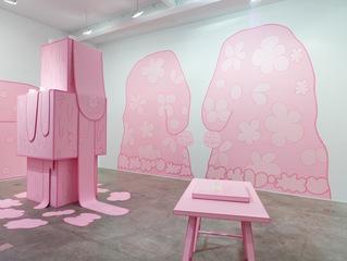 Huh installation view, Lily van der Stokker