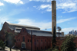 View of the Brewery Art Colony complex,