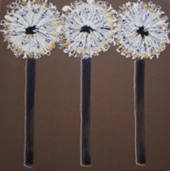 Sue_bartlett_three_gold___white_dandelion_heads_-90cm_x_90cm