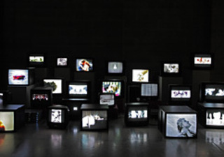 Pretty much every film and video work...(installation view), Douglas Gordon
