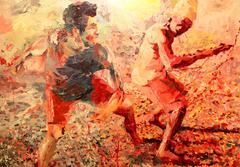 20141031084740-amigos_jogando_capoeira_100x130cm_acrylic_on_canvas_2013_by_henri_lamy