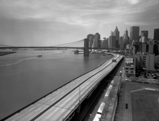 FDR Drive Viewed from the Manhattan Bridge, New York,Steve Hanson