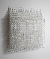 Falling Grid with Under Painting, Margie Livingston