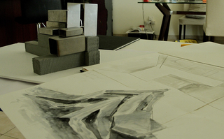 Models for an upcoming solo show at Salsali Private Museum in Hazem Harb's studio, Hazem Harb