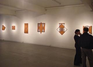 View of Joyce Kohl sculptures,