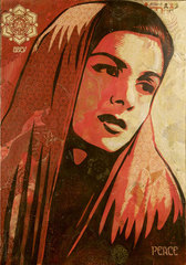 Peace Mujer,Shepard Fairey
