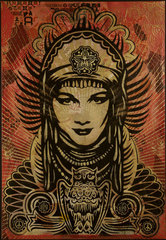 Peace Goddess,Shepard Fairey