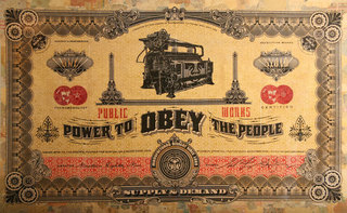 Two Sides of Capitalism: Good,Shepard Fairey