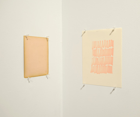 pink study for corner, Derek Dunlop