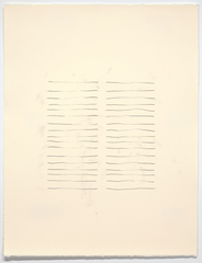 Untitled (carbon paper series, double parallel), Derek Dunlop