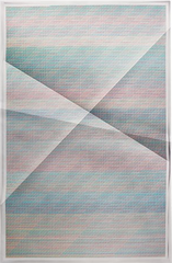 Untitled #330, 456, 975 combinations of a 2×2 grid, 25 colours, (from Aggregates series), John Houck