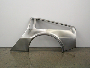 20150427232150-sean_lynch__delorean_progress_report__2009-11__handmade_stainless_steel_bodypanels_of_delorean_dmc-12_car__courtesy_the_artist_and_ronchini_gallery