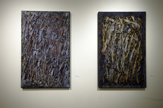 """""""Through Glass"""" and """"Leap of Faith""""  """"The Surface of Space""""  Phantom GalleriesLA, ROGER WEIK"""