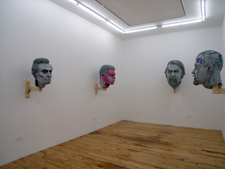 installation view of Heads, Scott Fife
