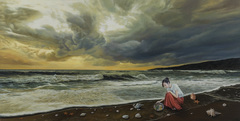 20150729105618-tamen_____the_sea_and_the_fish______oil_on_canvas_______60x120cm__2014