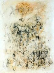 20120809211111-going_by__2012__oil__pencil__wax_on_paper__39x29