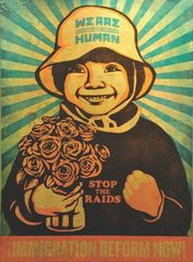 We are Human Girl, Shepard Fairey, Ernesto Yerena Montejano